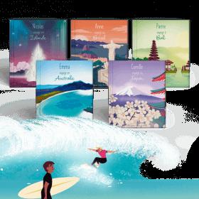Le Pack 5 destinations Côté Mer - Mes Voyages Autour du monde pour PRENOM