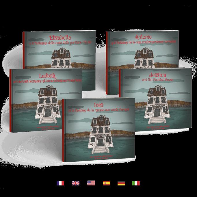 Le fantôme de la maison aux volets fermés en 5 langues