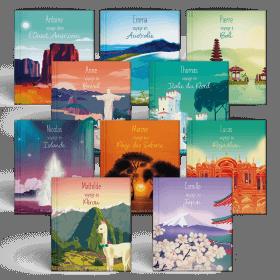 La collection intégrale des 10 destinations de Mes Voyages Autour du monde pour PRENOM